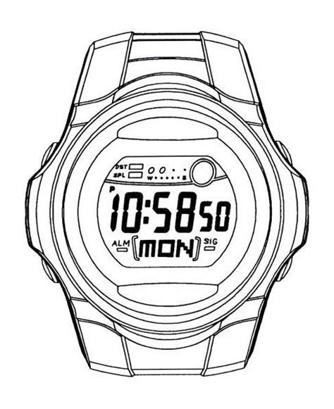 imagenes para colorear reloj dibujo reloj pulsera imagui