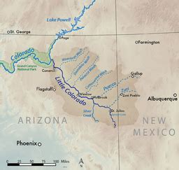 grand falls arizona map colorado river wow