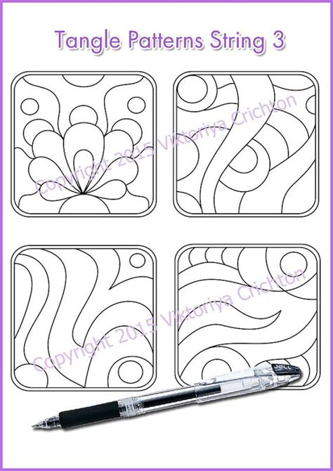 String Patterns Pdf - strings for drawing zentangles string template tangle