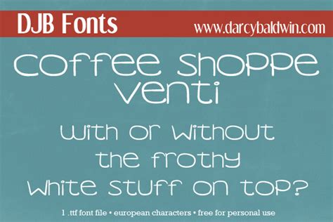 dafont license djb coffee shoppe venti font dafont com