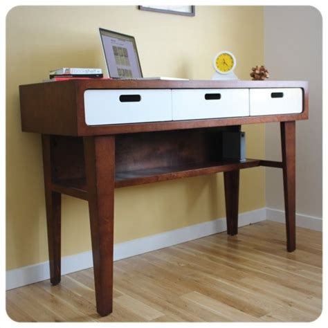 modern standing desk office desk in caramel stain with