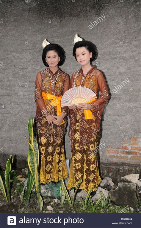wedding java wedding in central java bridesmaids wearing traditional