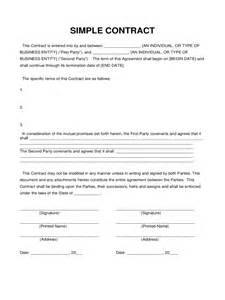 simple contract agreement template simple contract template 6 free templates in pdf word