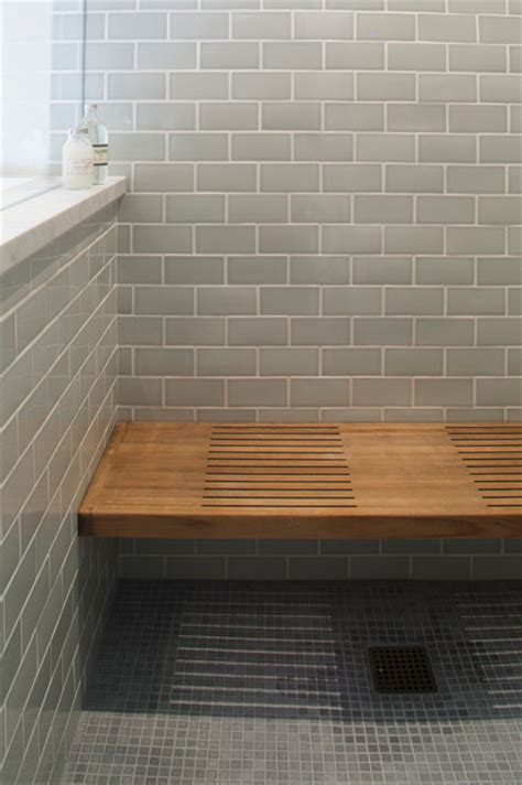 wooden shower bench seats wooden shower bench with blue tile traditional