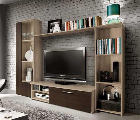 mueble de salon de  cms en color roble combinando