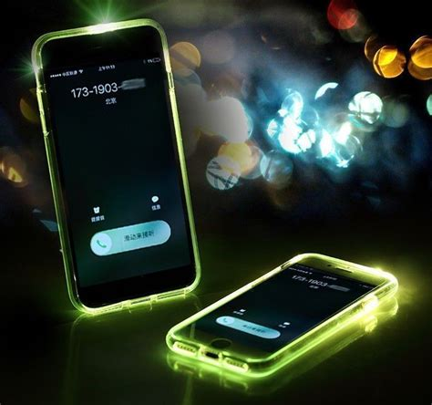 rock apple iphone   led light tube case  flash alert soft silicon case screen