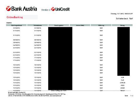 bank austria kontoauszug runtux 187 archive 187 banking bank austria