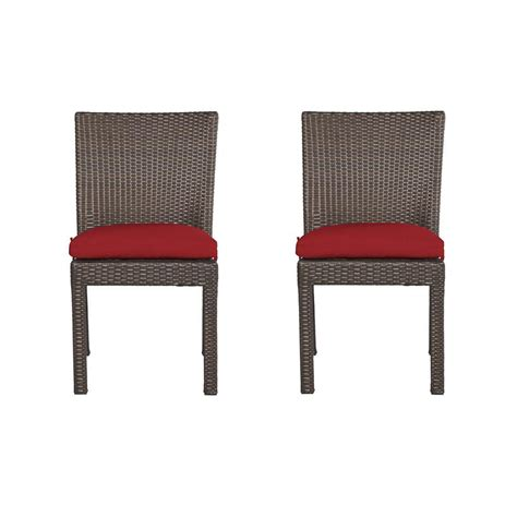 Patio Dining Chairs With Cushions Hton Bay Fall River Patio Dining Chair With Moss Cushion 2 Pack Dy11034 D 2 The Home Depot