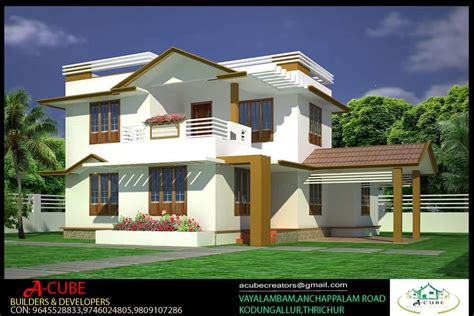kerala home plans with estimate studio design