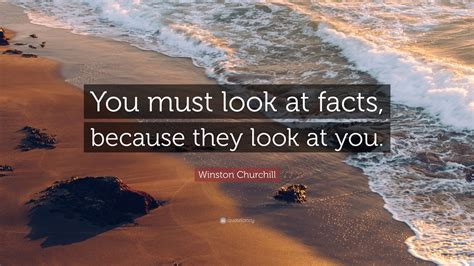 features that you must look winston churchill quote you must look at facts because