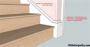 Baseboard Stairs by Raked Baseboard Returns Thisiscarpentry