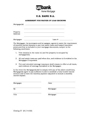 bank escrow account agreement content fill printable fillable blank pdffiller