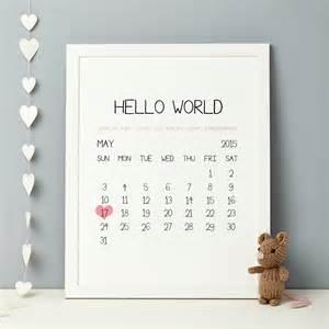 personalised baby birth date print by thispaperbook notonthehighstreet