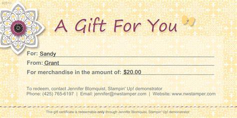 gift certificates northwest stamper