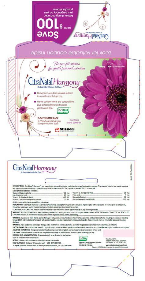 prenatal vitamins with stool softener dailymed citranatal harmony calcium citrate iron
