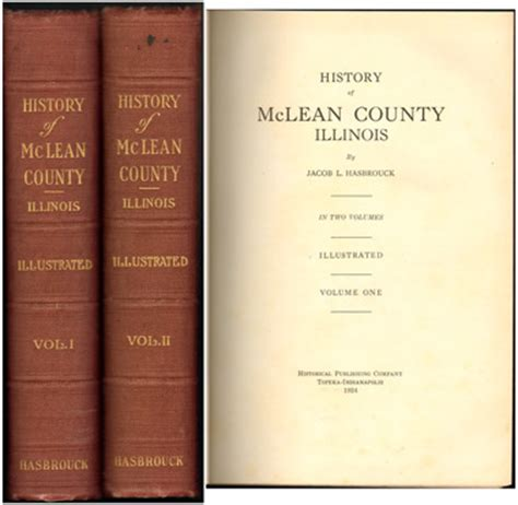 Mclean County Records History Of Mclean County Illinois 1924 By Jacob L Hasbrouck Genealogy