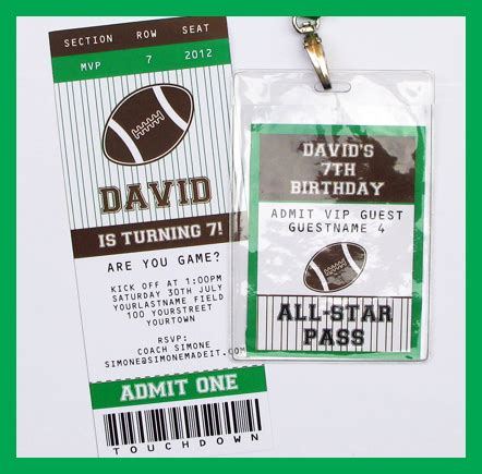 football ticket invitation template 7 best images of soccer ticket invitations templates free