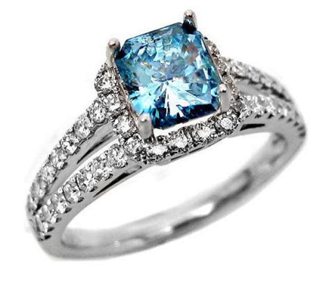 blue engagement rings will be attractive for