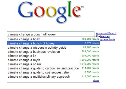 What Search Most On Climate Change A Bunch Of Hooey And Other Search Results Treehugger