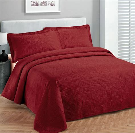 Bedspreads Coverlets by King Size 3 Pc Solid Embossed Bedspread Bed Cover New