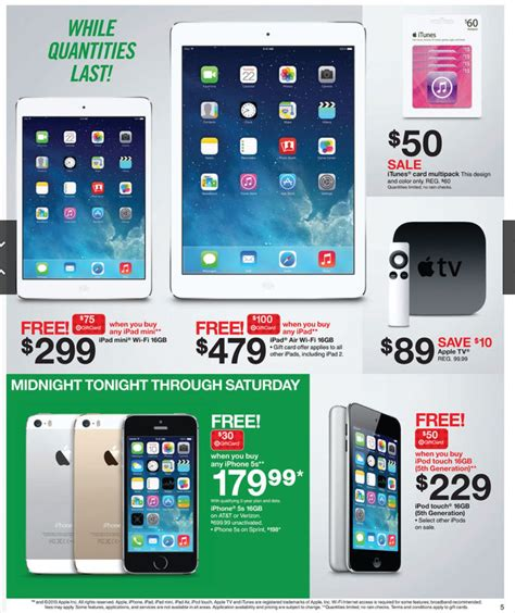 Target Gift Card Sale Black Friday - target s black friday deals 479 ipad air with 100 gift card 179 99 iphone 5s with
