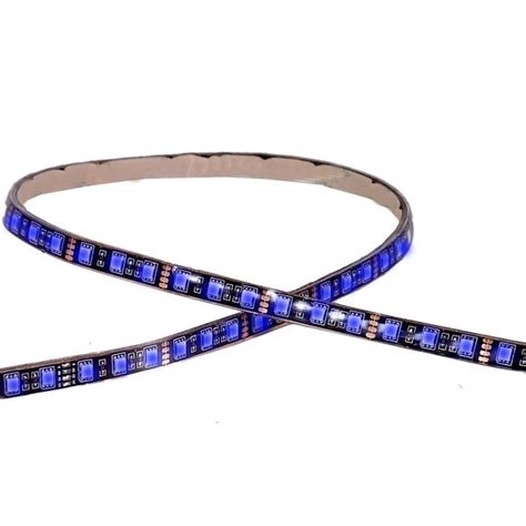 maxxima led strip runner lighting maxxima 36 led 24 quot adhesive strip light blue mls 2436bl
