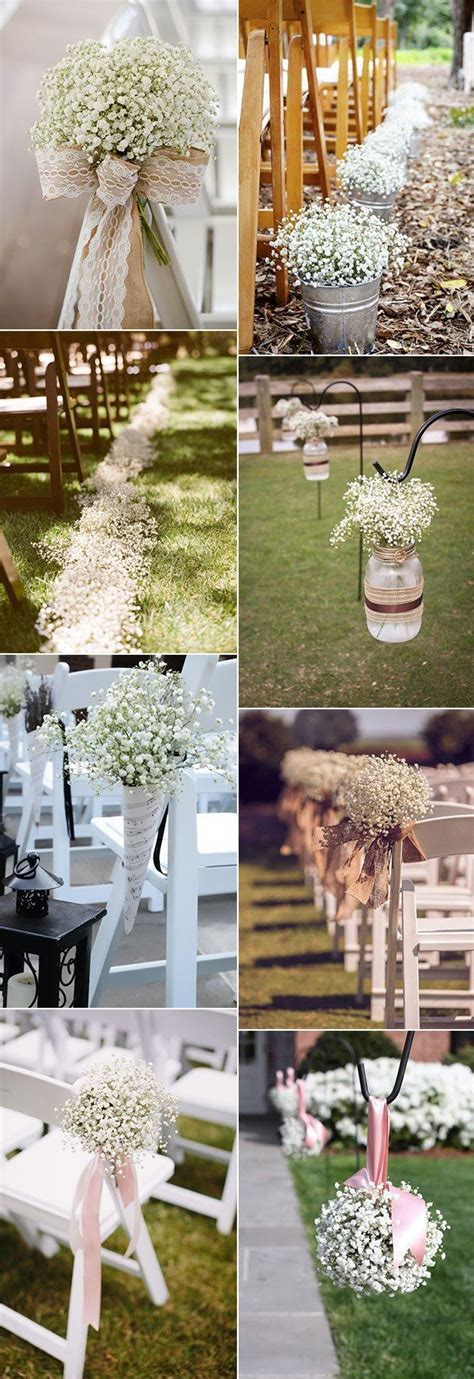 Baby S Breath Wedding Aisle by Wedding Flowers 32 Baby S Breath Wedding Ideas Page 2 Of
