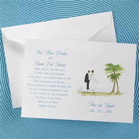 Wedding Invitations Island by Wedding Stuff Island Wedding Invitation The Office Gal
