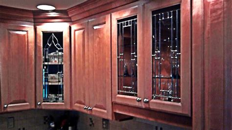 beveled glass kitchen cabinet panels mclean stained
