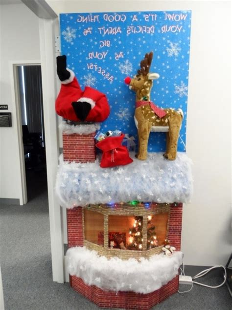 office christmas door decorating contest winners office