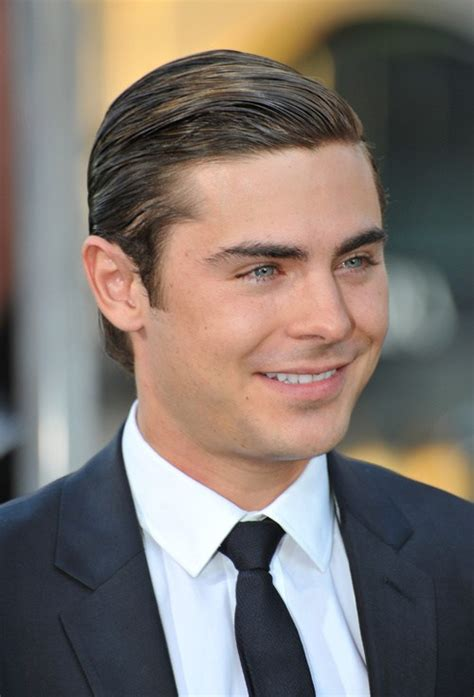 gelled comb back hipster haircut zac efron hairstyles 20 best men s hair looks
