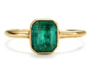 Cusion Cut Diamond Antique Emerald Ring The Three Graces