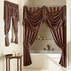 splendor swag shower curtain shop interior design