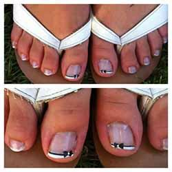 ongles gel pieds photos ongle en gel pied photo