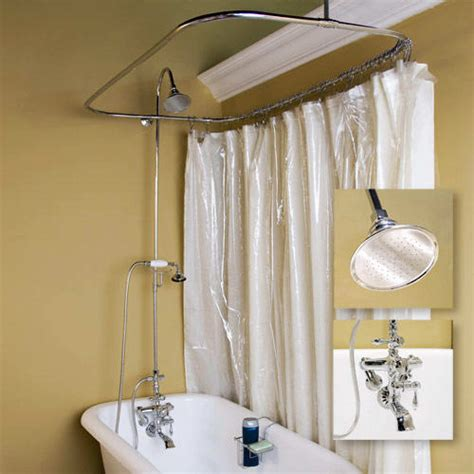 shower curtain for bathtub clawfoot tub shower decor ideas the homy design
