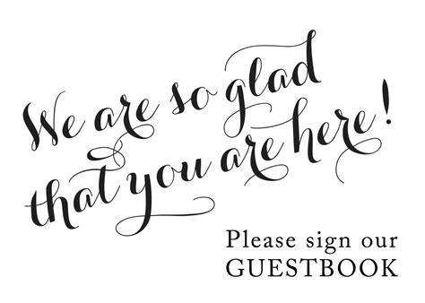 Custom Guest Book Sign Please Sign Our Guest Book Sign Our Guest Book Template