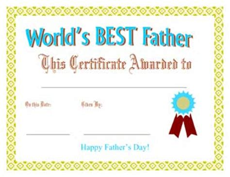 printable birthday cards father printable father s day best father award certificate