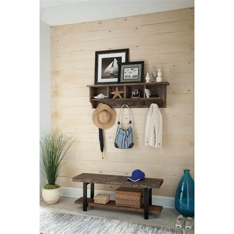 Home Depot Pomona by Alaterre Furniture Pomona Rustic Storage Bench