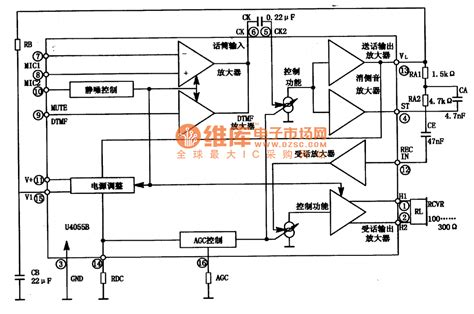 integrated circuit parts u4055b communication integrated circuit diagram communication circuit circuit diagram