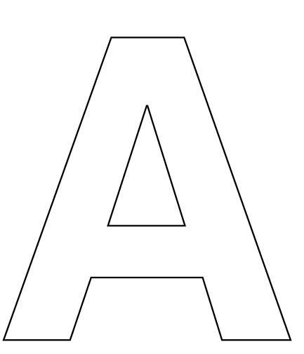 printable alphabet letters to cut out alphabet letter a coloring page for kids pre school