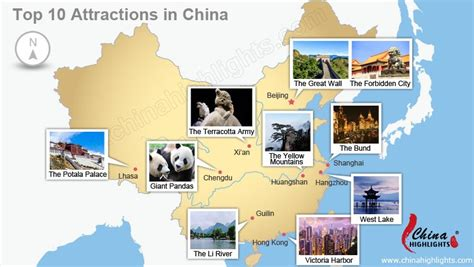 Kina Top china s top ten attractions 10 must visit sights in china