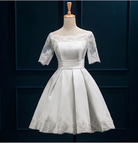 Baju Formal Form 6 new arrvial shoulder cocktail dresses 2016 white lace formal