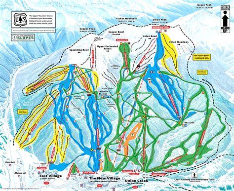 copper trail map mining copper tracks ski magazine