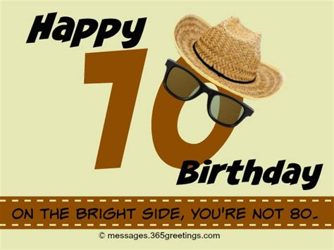 Humorous 70th Birthday Quotes 70th Birthday Wishes And Messages 365greetings Com
