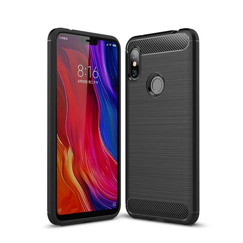 Carbon Fiber Xiaomi Redmi Pro bakeey carbon fiber shockproof soft silicone back