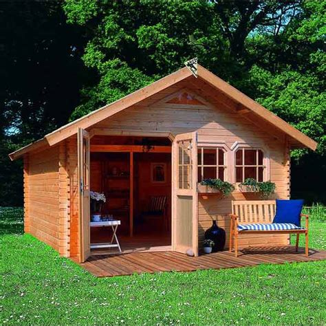maison de jardin en bois abri de jardin 17 39m 178 en bois massif brut 40mm doderic karibu