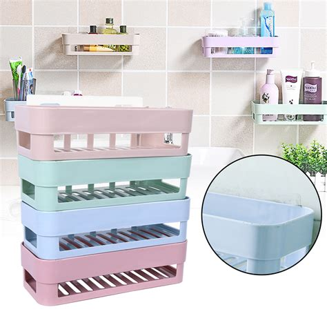 plastic bathroom shelves plastic bathroom kitchen corner wall storage rack
