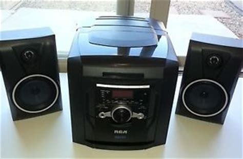 panasonic 5 cd changer shelf stereo system with 2 speakers