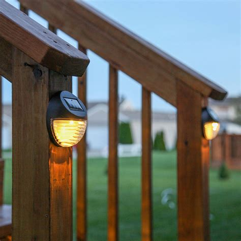 landscape lights solar lights solar solar wall brown solar fence lights