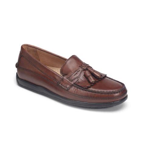 kiltie loafers dockers sinclair kiltie tassel loafers in brown for lyst